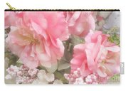 Dreamy Pink Roses, Shabby Chic Pink Roses - Romantic Roses Peonies Floral Decor Carry-all Pouch