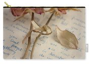 Dried Roses And Vintage Letter Carry-all Pouch