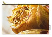 Dried Yellow Rose Carry-all Pouch