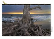 Driftwood On Jekyll Island Carry-all Pouch by Debra and Dave Vanderlaan