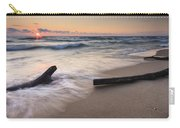 Driftwood On The Beach Carry-all Pouch by Adam Romanowicz