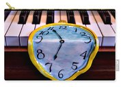 Dripping Clock On Piano Keys Carry-all Pouch by Garry Gay
