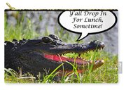 Drop In For Lunch Greeting Card Carry-all Pouch by Al Powell Photography USA