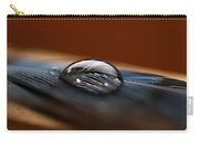 Drop On A Bluejay Feather Carry-all Pouch