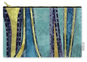 Droplet Ornaments In Navy Blue And Gold Carry-all Pouch