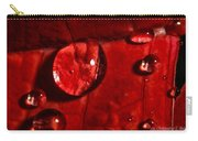 Droplets On Red Carry-all Pouch