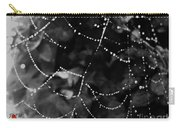 Droplets On The Web Bw Carry-all Pouch
