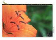 Droplets On Tiger Lily Carry-all Pouch