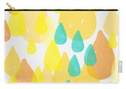 Drops Of Sunshine- Abstract Painting Carry-all Pouch by Linda Woods