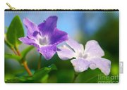 Drops On Violets Carry-all Pouch by Carlos Caetano