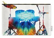 Drum Set Art - Color Fusion Drums - By Sharon Cummings Carry-all Pouch