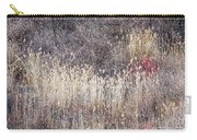 Dry Grasses And Bare Trees In Winter Forest Carry-all Pouch by Elena Elisseeva