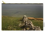 Drystone Wall  Misty Day Kettlewell Wharfedale North Yorkshire England Carry-all Pouch