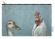 Duck Chicken Carry-all Pouch by James W Johnson