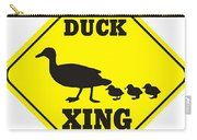 Duck Crossing Sign Carry-all Pouch