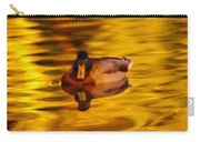 Duck On Golden Water Carry-all Pouch