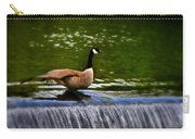 Duck On The River Wye Waterfall - In Bakewell Peak District - England Carry-all Pouch