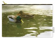 Duck Swimming In A Frozen Lake Carry-all Pouch