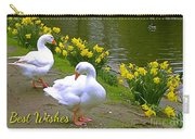 Ducks And Daffodils Greeting Carry-all Pouch