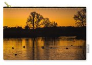 Ducks At Sunrise On Golden Lake Nature Fine Photography Print  Carry-all Pouch