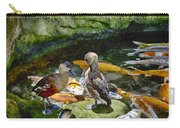 Ducks At The Koi Pond Carry-all Pouch