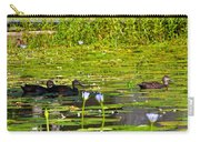 Ducks In Lily Pond Carry-all Pouch