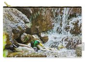 Ducks In The Falls Carry-all Pouch