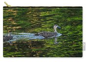 Ducks On Green Reflections - Panorama Carry-all Pouch
