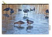 Ducks On Ice Carry-all Pouch