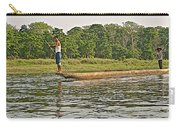 Dugout Canoe In The Rapti River In Chitin National Park-nepal Carry-all Pouch