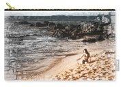 Duotone Beach Scene Carry-all Pouch