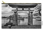 Dusk At World Showcase Lagoon Black And White Walt Disney World Carry-all Pouch