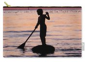 Dusk Float - Sunset Art Carry-all Pouch by Sharon Cummings