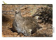 Dusky Grouse With Chicks Carry-all Pouch
