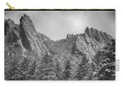 Dusted Flatiron In Black And White  Carry-all Pouch