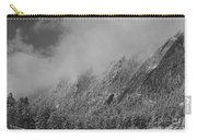 Dusted Flatirons Low Clouds Boulder Colorado Bw Carry-all Pouch