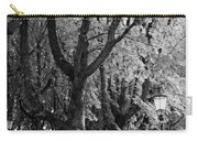 Dutch City Trees - Black And White Carry-all Pouch