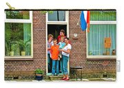 Dutch Family On Orange Day In Enkhuizen-netherlands Carry-all Pouch