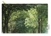 Dutch Landscape - Country Road Carry-all Pouch by Carol Groenen