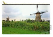 Dutch Landscape With Windmills Carry-all Pouch by Carol Groenen