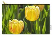Dutch Yellow Tulip Flowers On Windmill Island In Holland Michigan Carry-all Pouch