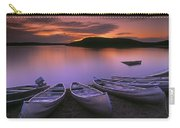 D.wiggett Canoes On Shore, Pink And Carry-all Pouch