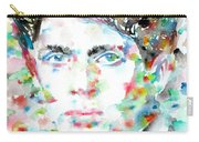 Dylan Thomas - Watercolor Portrait Carry-all Pouch