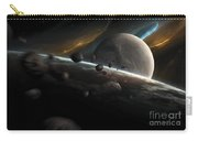 Dynamic Space Scene With Incoming Carry-all Pouch
