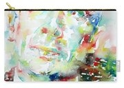 E. E. Cummings - Watercolor Portrait Carry-all Pouch
