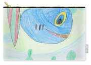 E' S Blue Fish Carry-all Pouch