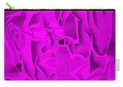 E Vincent Negative Purple Carry-all Pouch