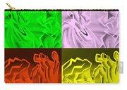 E Vincent Negative Quad Colors Carry-all Pouch