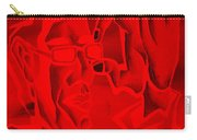 E Vincent Negative Red Carry-all Pouch