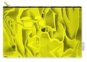 E Vincent Negative Yellow Carry-all Pouch